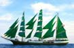 Tall Ship Alexander von Humboldt, all 25 sails up, Author: Winfried Huber